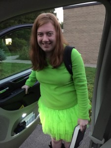 Sheridan wearing green today to school support World CP Day.