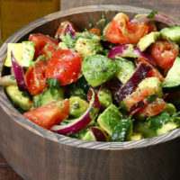 This is how you salad, baby! Cucumber Tomato Avocado Salad Recipe